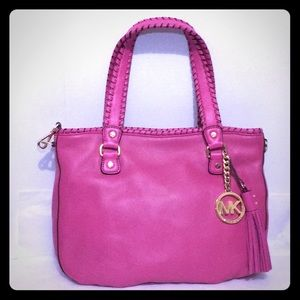 MICHAEL KORS pink leather Bennet Tote Purse bag